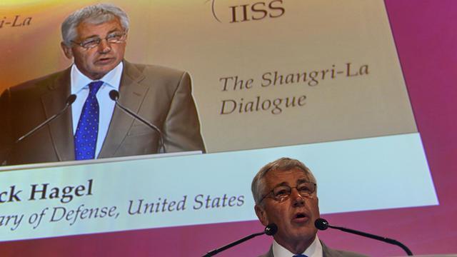 Le secrétaire américain à la Défense Chuck Hagel à Singapour le 1er juin 2013 [Roslan Rahman / AFP]