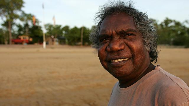 Mandawuy Yunupingu, le 4 décembre 2005 en Terre d'Arnhem, dans le nord de l'Australie [Torsten Blackwood / AFP/Archives]