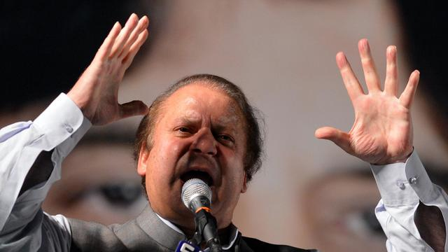 Nawaz Sharif s'adresse à ses partisans lors d'un meeting à Rawalpindi le 7 mai 2013 [Aamir Qureshi / AFP/Archives]