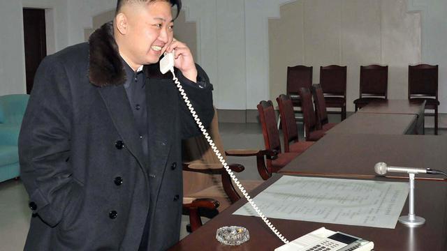 Photo tramsise par l'agence nord-coréenne KCNA, le 12 décembre 2012 de son leader Kim Jong-Un à Pyongyang [Kns / KCNA/AFP/Archives]