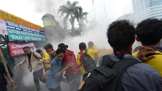 Des Indonésiens manifestent contre la hausse prévue du prix des carburants, le 17 juin 2013 à Jakarta [Adek Berry / AFP]