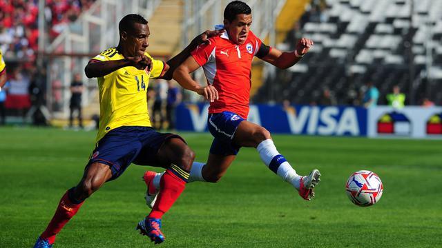 La Colombie, déjà victorieuse de l'Uruguay par 4 à 0, a confirmé mardi en allant battre le Chili chez lui (3-1). [AFP]