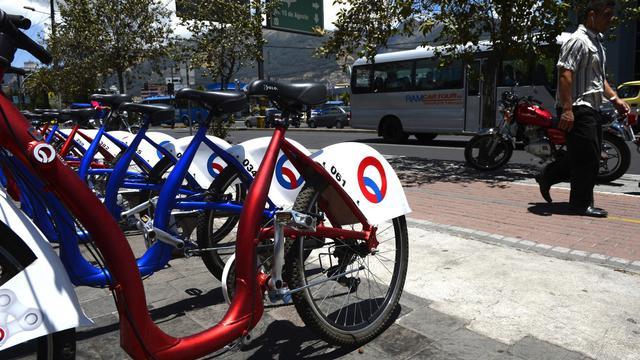 Des vélos en libre-service à Quito le 13 septembre 2012 [Rodrigo Buendia / AFP]