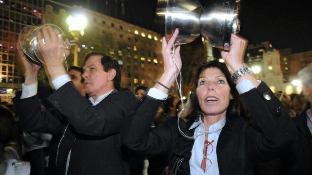 Manifestation dans le centre de Buenos Aires, le 13 septembre 2012 [-- / AFP]