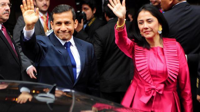 Le président péruvien Ollanta Humala et son épouse Nadine Heredia, le 28 juin 2011 à Lima [Ernesto Benavides / AFP/Archives]