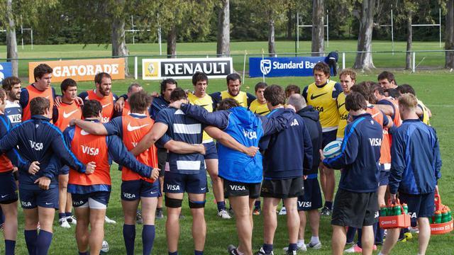 L'équipe d'Argentine de rugby à l'entraînement à La Plata près de Buenos Aires, le 27 septembre 2012. [Martin Seras Lima / AFP]