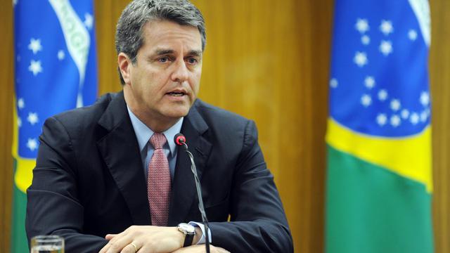 Le futur directeur de l'OMC Roberto Azevedo tient une conférence de presse à Brasilia, le 17 mai 2013 [Evaristo Sa / AFP]