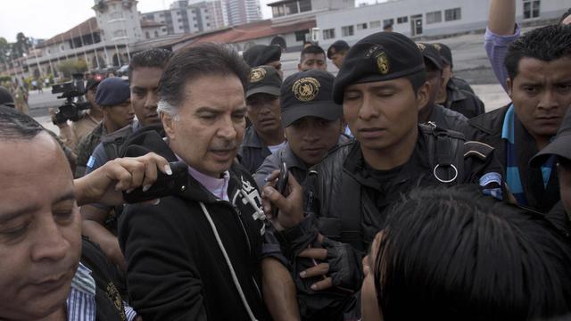 L'ancien président conservateur guatémaltèque Alfonso Portillo le 24 mai 2013 à Guatemala [ / AFP]