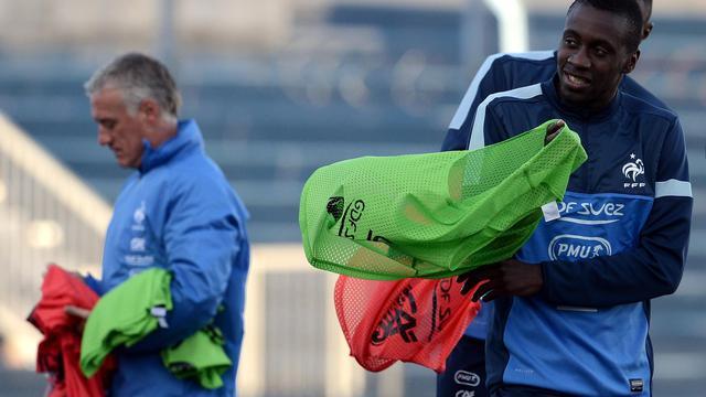 Blaise Matuidi à l'entraînement à Montevideo avec l'équipe de France le 3 juin 2013 [Franck Fife / AFP]
