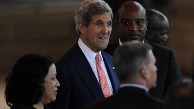 Le secrétaire d'Etat américain John Kerry en visite au Guatemala le 5 juin 2013 [Johan Ordonez / AFP/Archives]