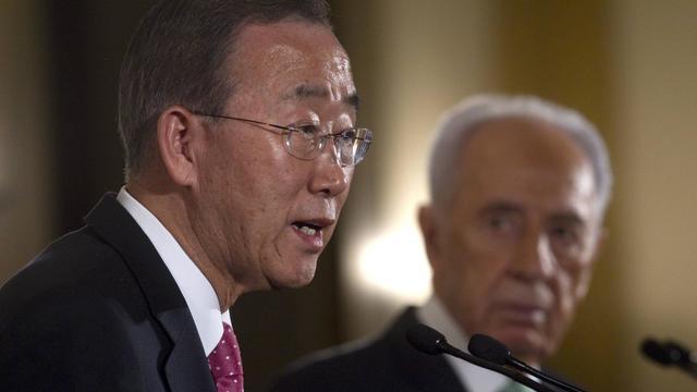 """Le secrétaire général de l'ONU Ban Ki-moon a lancé lundi un appel devant le Conseil des droits de l'homme de l'ONU pour que les auteurs de """"crimes de guerre"""" en Syrie soient jugés. [AFP]"""