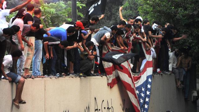 """Le film à l'origine des manifestations et attaques anti-américaines, mardi en Egypte et en Libye, est signé par un Israélo-américain qui décrit l'islam comme un """"cancer"""", selon le Wall Street Journal. [AFP]"""