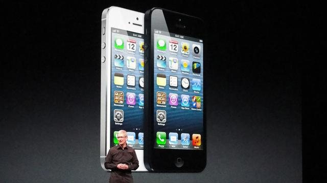 Présentation de l'iPhone 5 d'Apple, le 12 septembre 2012 aux Etats-Unis [Glenn Chapman / AFP/Archives]