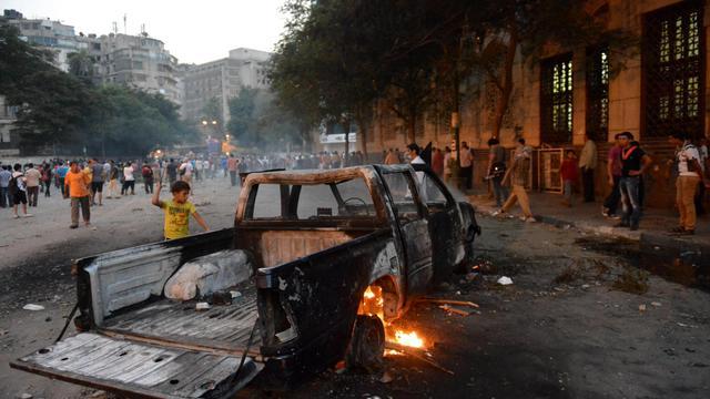 Manifestation contre un film américain jugé anti-islam le 13 septembre 2012 à proximité de l'ambassade des Etats-Unis au Caire [Khaled Desouki / AFP]
