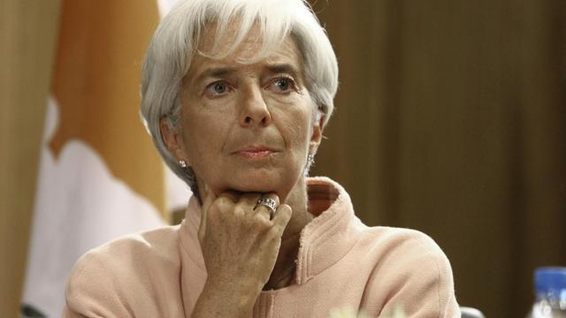 La directrice générale du FMI, Christine Lagarde, le 14 septembre 2012 à Chypre [Yiannis Kourtoglou / AFP/Archives]