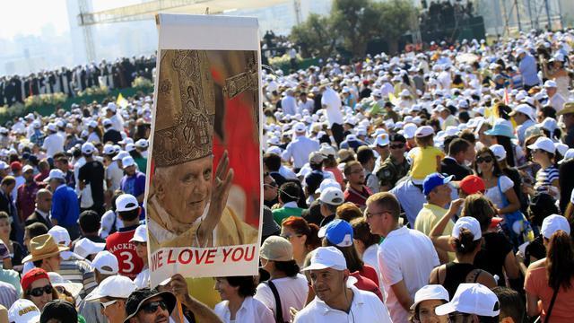 La foule des fidèles le 16 septembre 2012 pendant la messe du pape à Beyrouth [Anwar Amro / AFP]