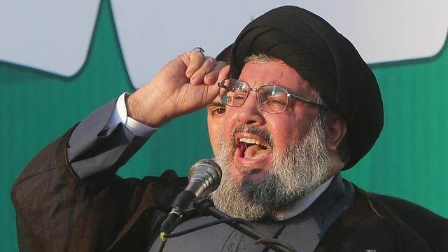 Hassan Nasrallah le 17 septembre 2012 à Beyrouth [Joseph Eid / AFP]
