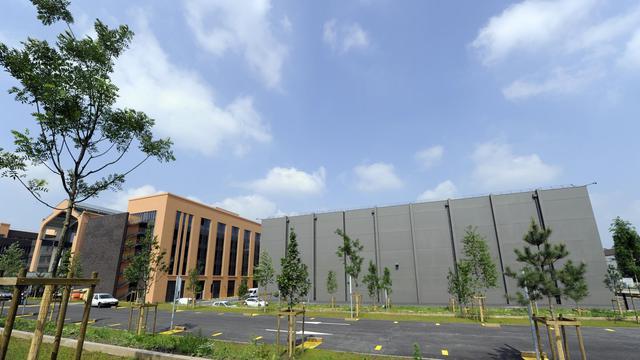 Les nouveaux studios de la cité européenne du cinéma installés à Saint-Denis, dans la banlieue parisienne, en juin 2012 [Bertrand Guay / AFP/Archives]