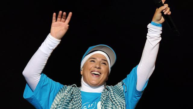 La chanteuse Diam's sur scène, le 17 juillet 2010 [Xavier Leoty / AFP/Archives]