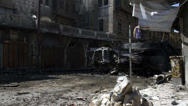 Une rue d'Alep, en Syrie, le 28 septembre 2012 [Miguel Medina / AFP]