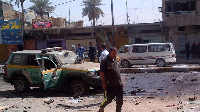Attentat à Bagdad, le 30 septembre 2012. [W.G. Dunlop / AFP]