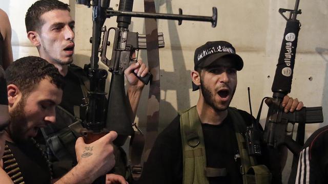 Des sunnites au Liban, à Tripoli, le 23 mai 2013 [Joseph Eid / AFP]