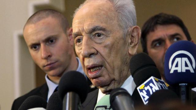 Le président israélien Shimon Peres, le 26 mai 2013 à Al-Chounah, sur les rives de la mer Morte en Jordanie [ / AFP]