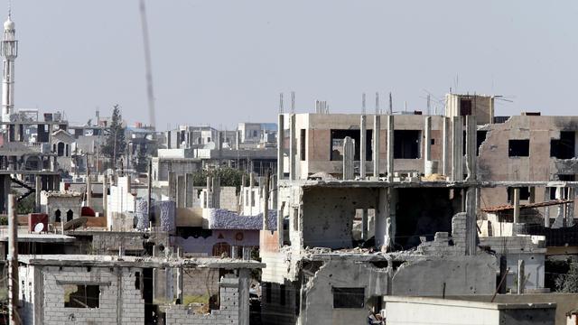 Une vue partielle de la ville de Qousseir, prise le 25 mai 2013 [ / AFP]