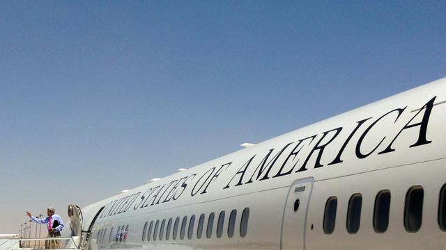 Le secrétaire d'Etat américain John Kerry arrive à Paris, le 27 mai 2013 [Jim Young / Pool/AFP]
