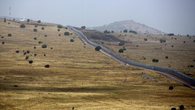 Vue générale de la frontière entre Israël et la Syrie sur le Golan en date du 9 juin 2013 [Menahem Kahana / AFP/Archives]