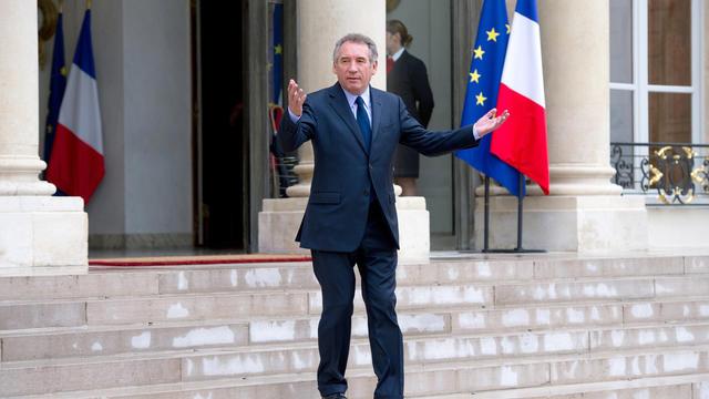 François Bayrou, le 4 juin 2012 à l'issue d'une rencontre avec François Hollande [Bertrand Langlois / AFP/Archives]