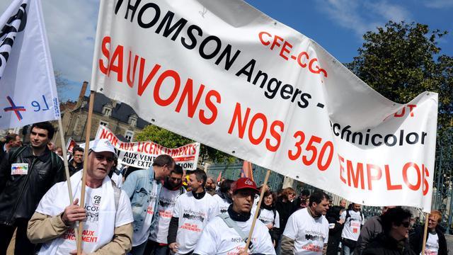 La société Thomson Angers, filiale du groupe électronique français Technicolor, placée en liquidation judiciaire, a vu sa période d'observation prolongée jusqu'au 11 octobre, par le tribunal de commerce de Nanterre jeudi. [AFP]