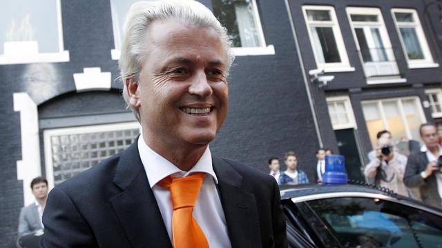 Au cours d'une campagne électorale dominée par l'Europe, le chef de file de l'extrême droite néerlandaise Geert Wilders a troqué son traditionnel discours anti-islam contre une europhobie exacerbée lui permettant de rester à flots dans les sondages.[ANP]