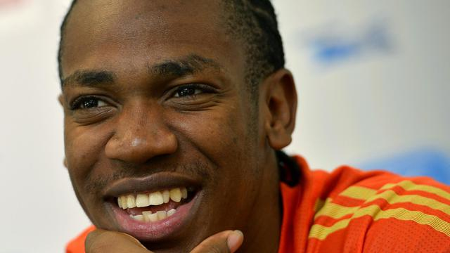"""Yohan Blake veut devenir """"l'homme le plus rapide du monde"""", et surpasser ainsi Usain Bolt son partenaire d'entraînement et autoproclamée légende de l'athlétisme, alors que le Jamaïcain entend courir un 200 m très rapide vendredi à Bruxelles pour la Ligue de diamant[BELGA]"""