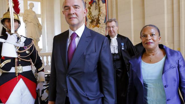 La réforme de l'impôt sur les sociétés, promise par François Hollande, devrait faire partie des mesures en faveur de la compétitivité qui seront présentées avant la fin de l'année, a déclaré lundi Pierre Moscovici, ministre de l'Economie, et ne figurera donc pas dans le budget 2013. [POOL]