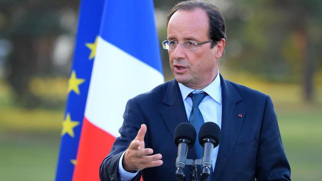 """Le président de la République François Hollande a assuré vendredi à Evian que """"tout va être fait pour l'emploi"""", soulignant que c'était """"la priorité"""" du gouvernement. [AFP]"""