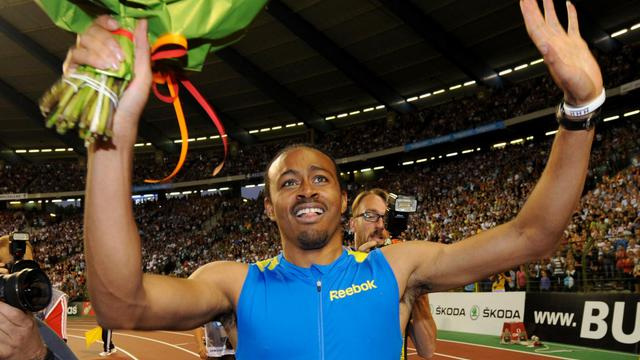 L'Américain Aries Merritt a établi un nouveau record du monde du 110 m haies en 12 sec 80/100e (vent: +0,3 m/s) vendredi à l'occasion du meeting de Bruxelles, 14e et dernière étape de la Ligue de diamant d'athlétisme [AFP]