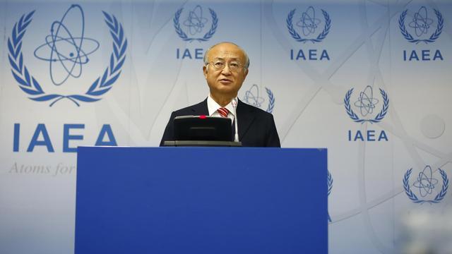 Le directeur général de l'AIEA, Yukiya Amano, lors d'une conférence de presse le 10 septembre 2012 à Vienne [Alexander Klein / AFP/Archives]