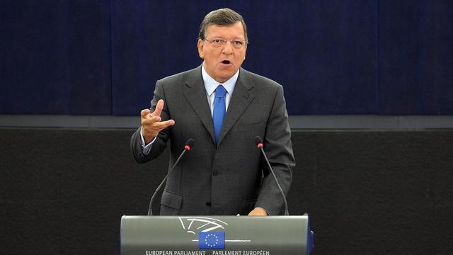 """L'Europe doit évoluer vers une """"fédération d'Etats-nations"""", comme rempart au nationalisme et au populisme, a affirmé mercredi le président de la Commission européenne, José Manuel Barroso. [AFP]"""