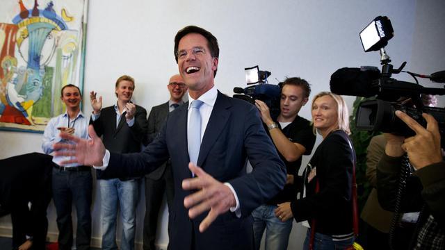 Le Premier ministre libéral Mark Rutte le 13 septembre 2012 à La Haye [Jerry Lampen / AFP]