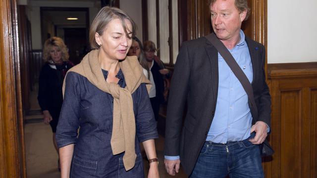 Le père de Susanna Zetterberg, une Suédoise tuée en 2008, le 13 septembre 2012 à Paris [Miguel Medina / AFP]