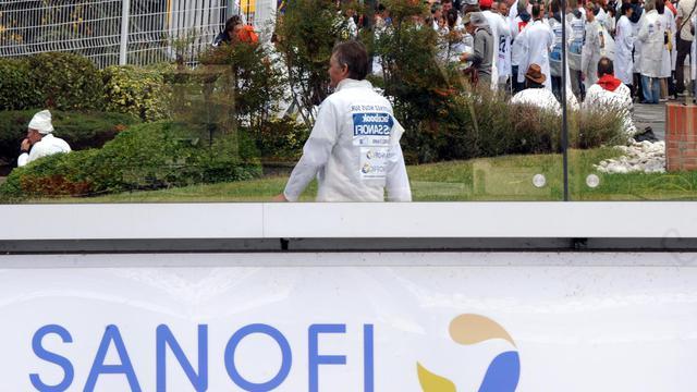 Des salariés du groupe pharmaceutique Sanofi participent à une journée d'action contre un projet de réorganisation menaçant entre 1.200 et 2.500 emplois, à Toulouse, dans le sud-ouest de la France [Pascal Pavani / AFP/Archives]