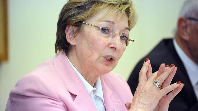La ministre déléguée à la Décentralisation, Anne-Marie Escoffier, le 13 septembre 2012 à Castelnaudary [Remy Gabalda / AFP]