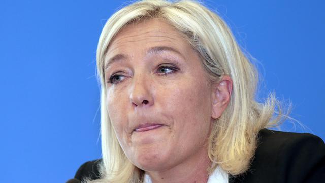 Marine Le Pen, lors d'une conférence de presse, le 14 septembre 2012 à Nanterre [Jacques Demarthon / AFP/Archives]