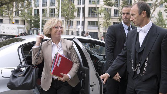 La ministre de l'Enseignement supérieur, Geneviève Fioraso, arrive le 14 septembre 2012 au Conseil économique, social et environnemental (Cese) [Miguel Medina / AFP/Archives]