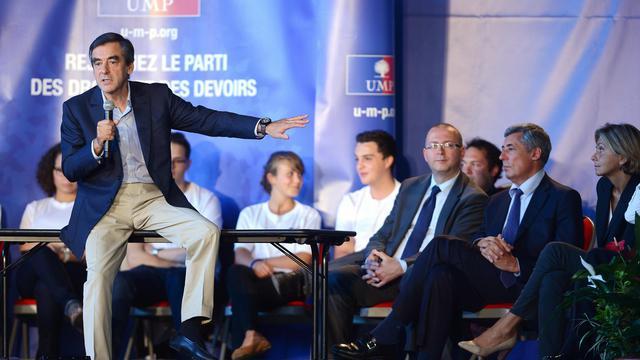 François Fillon, le 15 septembre 2012 à une réunion de l'UMP à Samoens, Haute-Savoie [Philippe Desmazes / AFP/Archives]