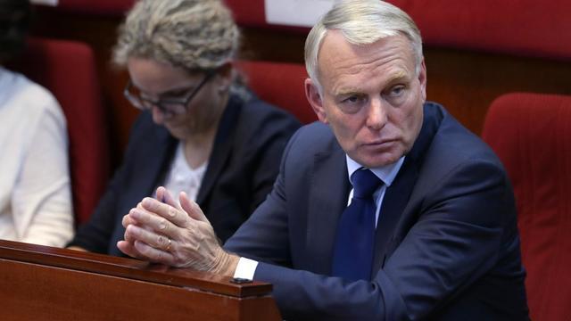 Jean-Marc Ayrault le 15 septembre 2012 lors de la conférence environnementale à Paris [Kenzo Tribouillard / AFP/Pool]