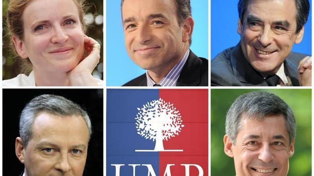 Photomontage du 4 septembre 2012 des candidats déclarés à la présidence de l'UMP [Dsk / AFP/Archives]
