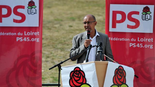 Harlem Désir s'exprime le 16 septembre 2012 à la fête de la rose d'Ingré, dans le Loiret [Alain Jocard / AFP]