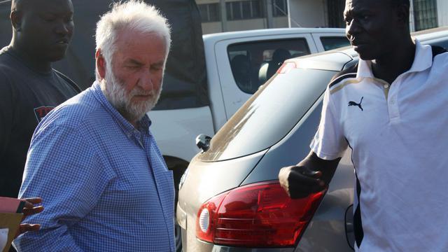Loik Le Floch-Prigent à son arrivée le 17 septembre 2012 au tribunal à Lomé [Emile Kouton / AFP/Archives]
